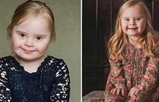 Ma 7 lat i zespół Downa - poznajcie małą modelkę imieniem Grace!