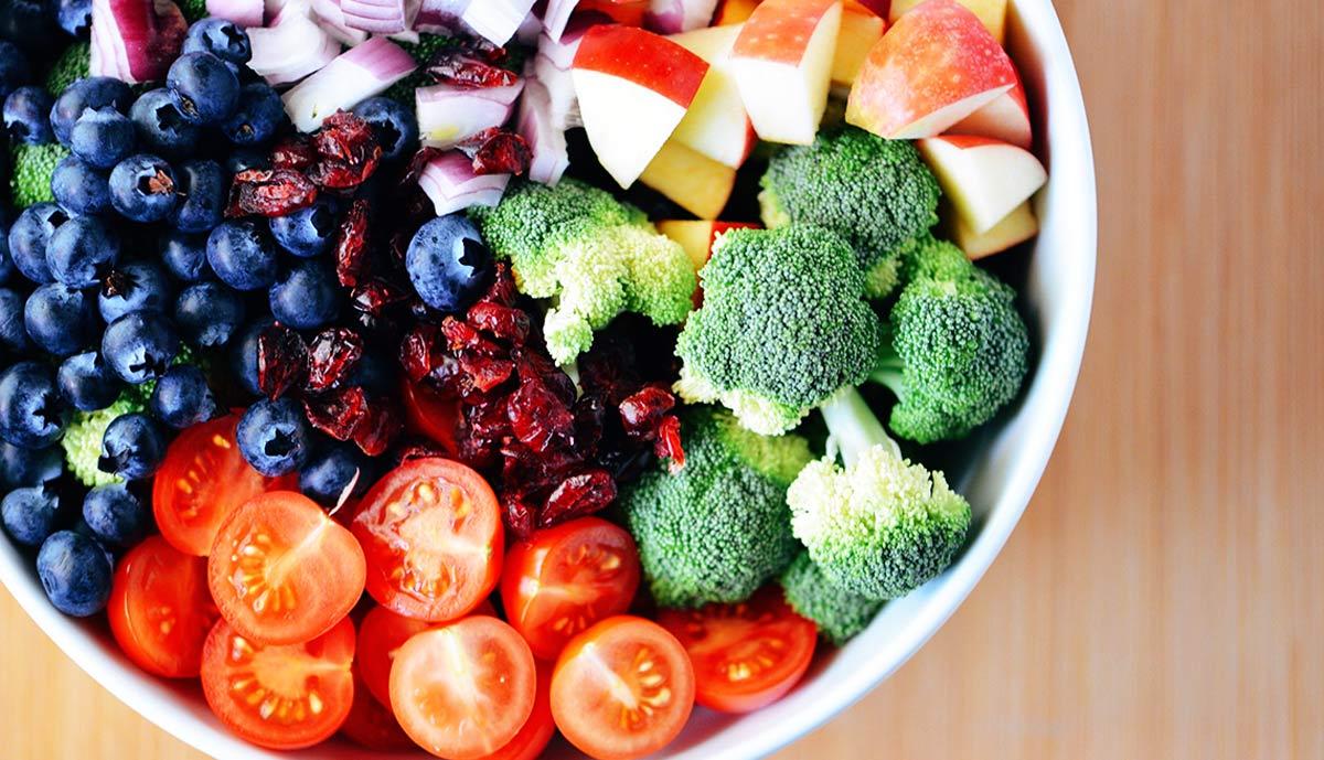Wybór warzyw i owoców