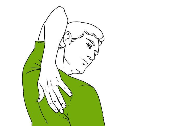 Dłoń na łopatce