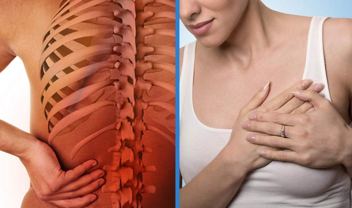 ból pleców i problemy z oddychaniem