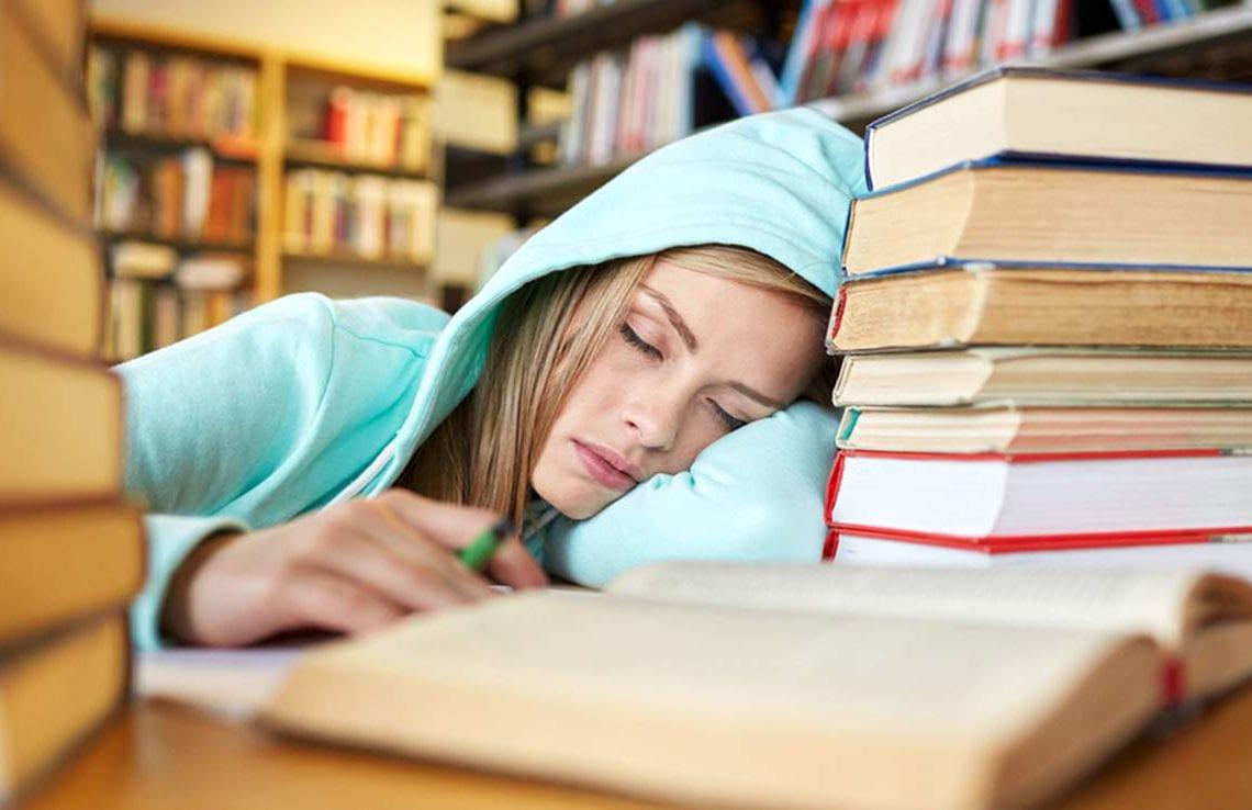zmęczony uczeń
